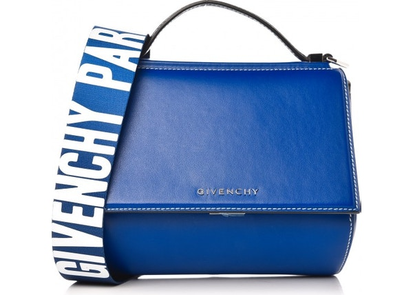 c1d1c8523fb Givenchy Pandora Box Messenger Logo Strap With Accessories Mini Moroccan  Blue