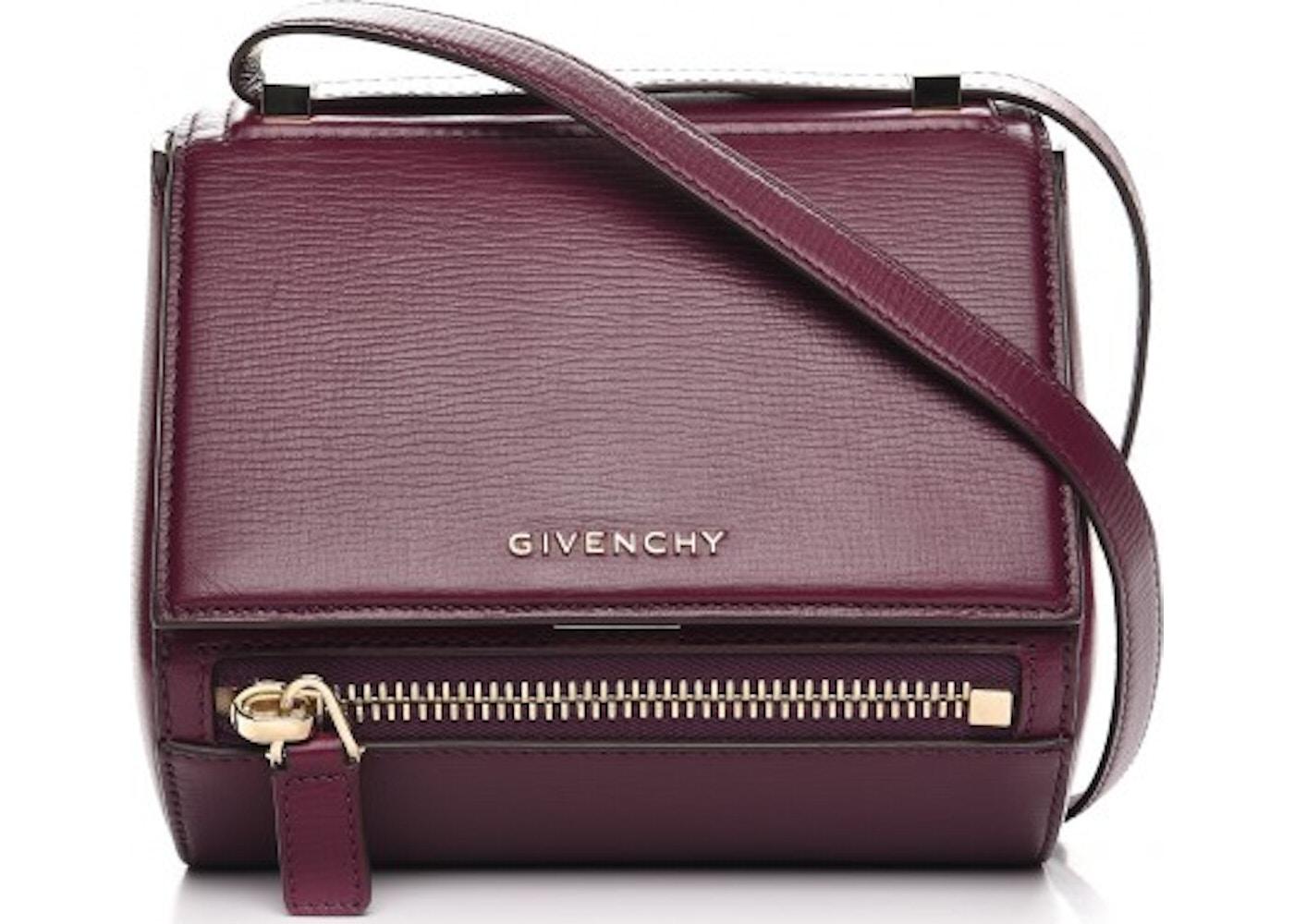 Givenchy Pandora Box Messenger Textured Mini Burgundy. Textured Mini  Burgundy 31cb6b9654588