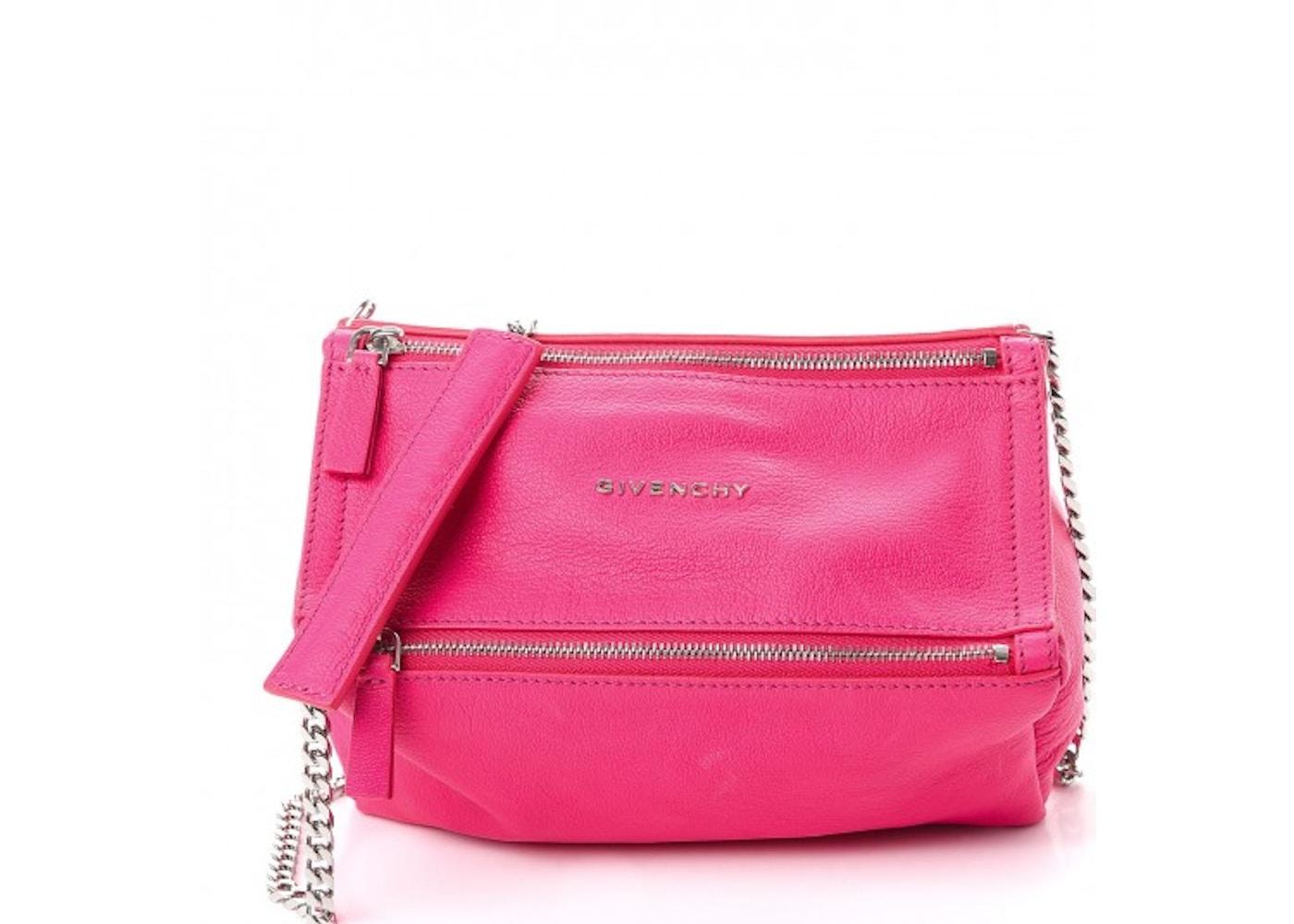 Givenchy Pandora Messenger Chain Sugar Goatskin Mini Hot Pink. Chain Sugar  Goatskin Mini Hot Pink a0e8fea88b99d
