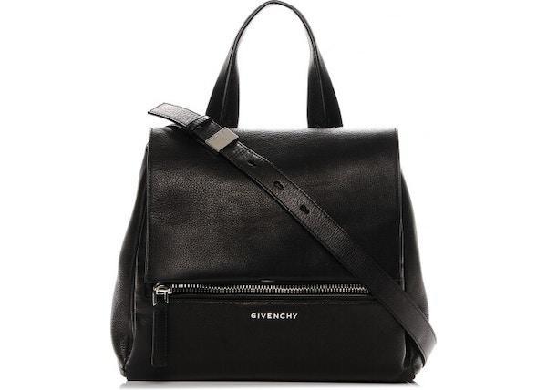 4914567129 Givenchy Pandora Pure Flap Zipper Pocket Pebbled Small Black