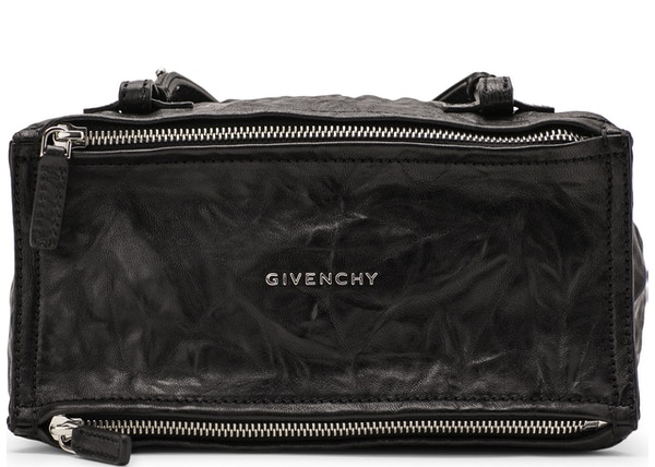Givenchy Pepe Pandora Messenger Tumbled Sheepskin Mini Black