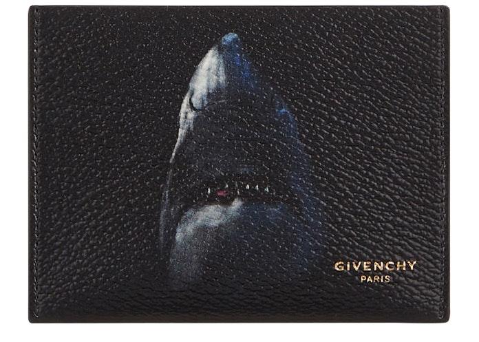 Givenchy Shark Bifold Card Holder Black