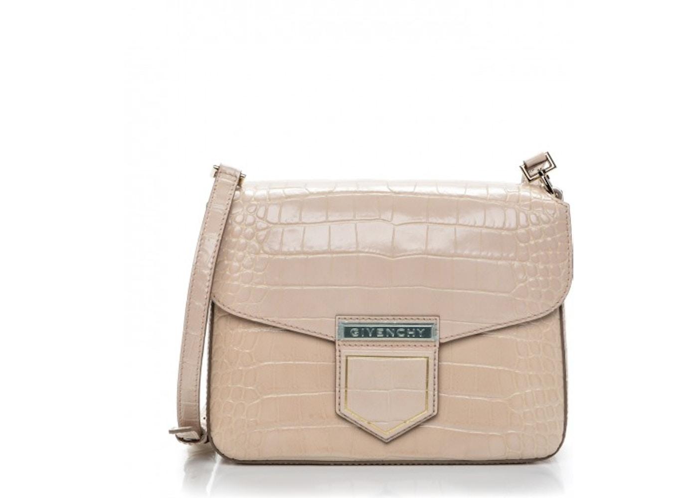 f261ef9608ba Givenchy Nobile Shoulder Croc Stamped Small Nude Pink