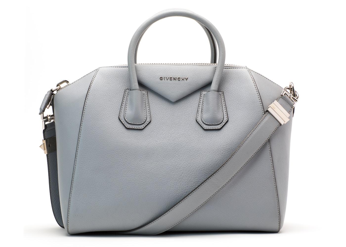 df47ce464392b Givenchy Antigona Tote Sugar Goatskin Medium Grey Blue. Sugar Goatskin  Medium Grey Blue