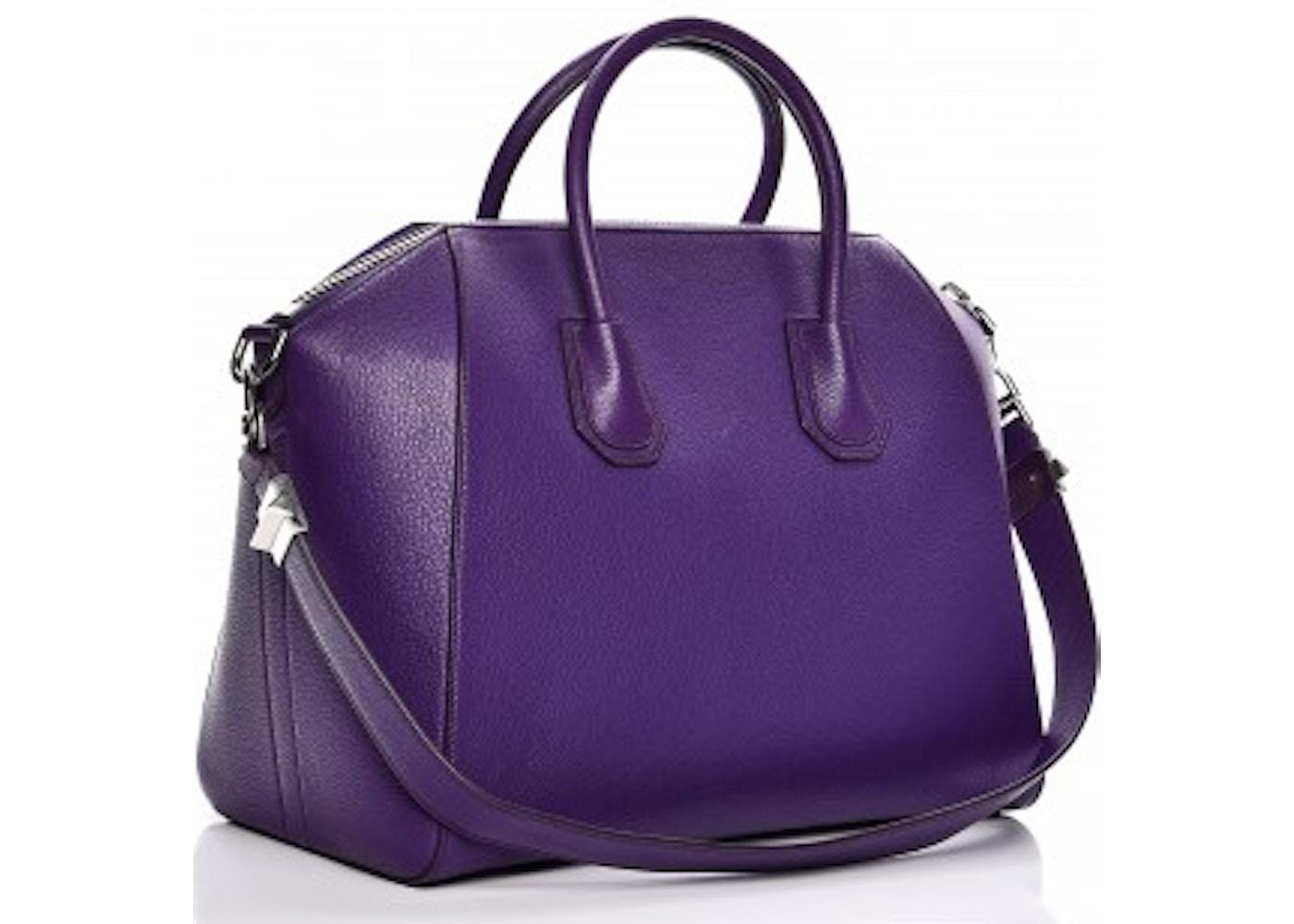Givenchy Antigona Tote Sugar Goatskin Medium Purple 5f3196c15aabb