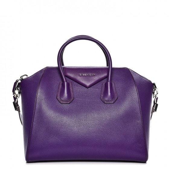 Givenchy Antigona Tote Sugar Goatskin Medium Purple