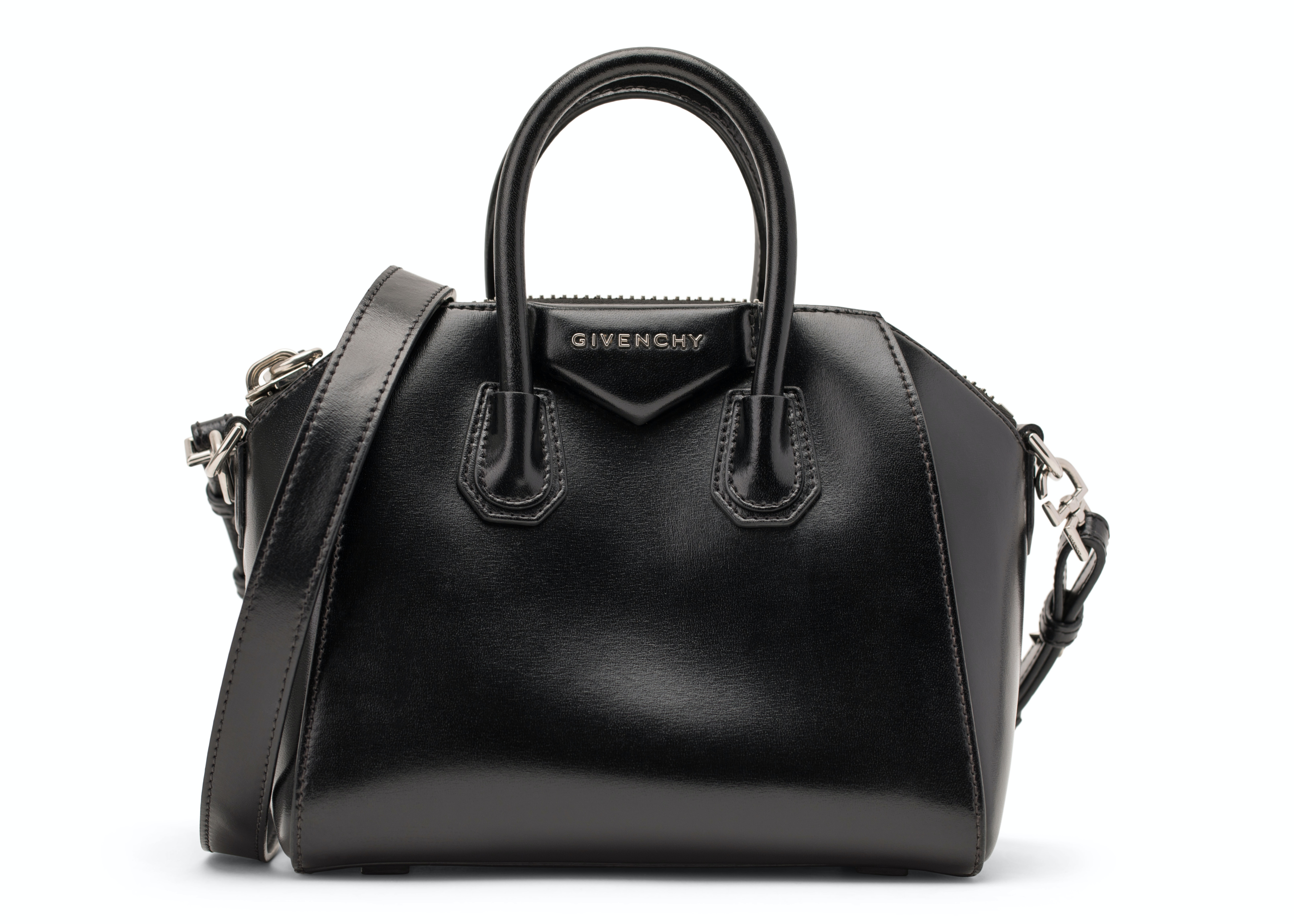 Givenchy Antigona Tote Shiny Lord Calfskin Small Black