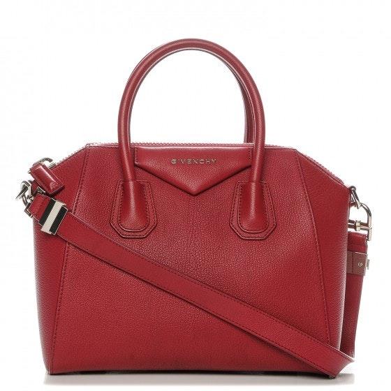 Givenchy Antigona Tote Sugar Goatskin Small Red
