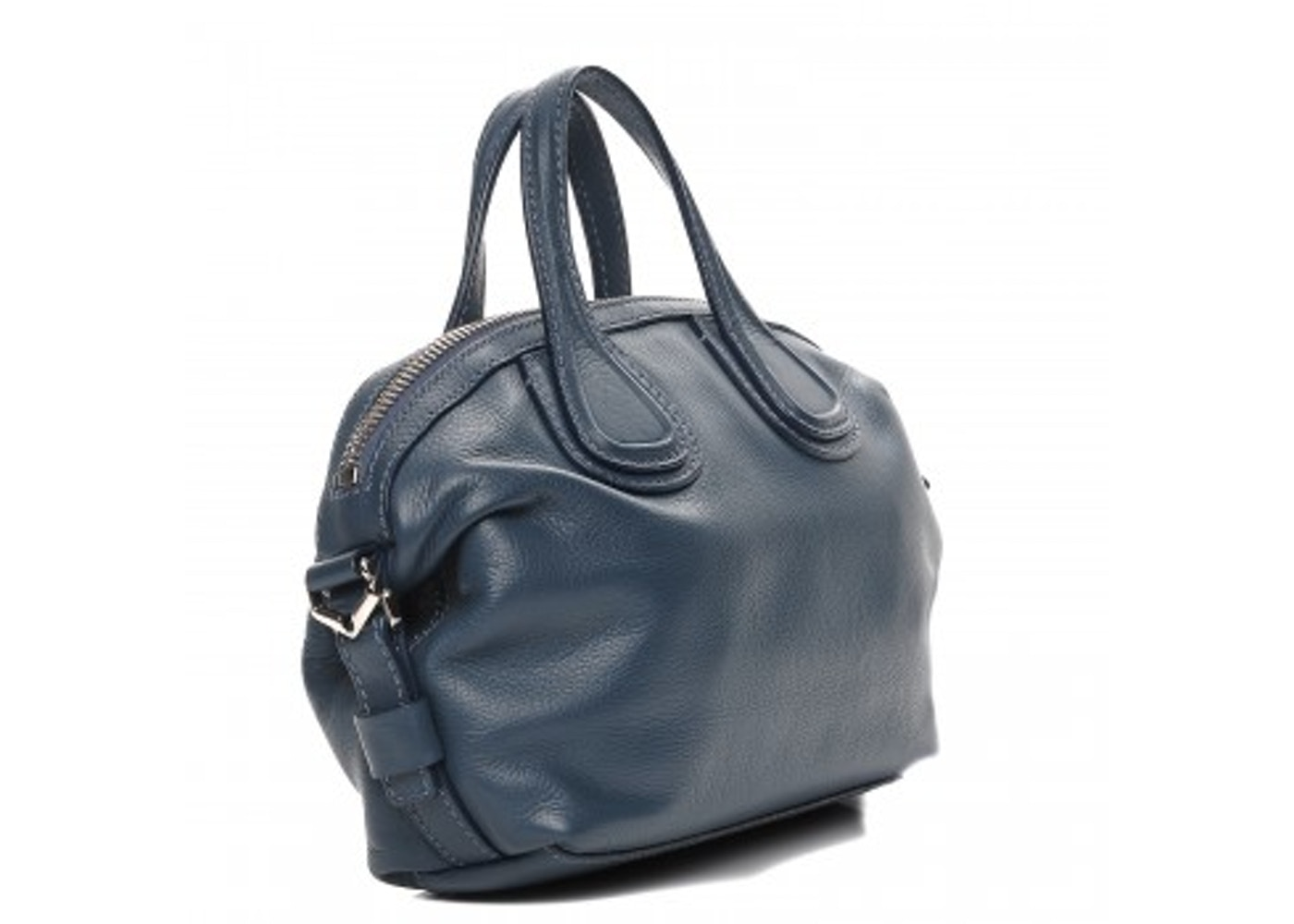 a17cf874b8c Givenchy Nightingale Tote Waxy Grained Calfskin Micro Mineral Blue