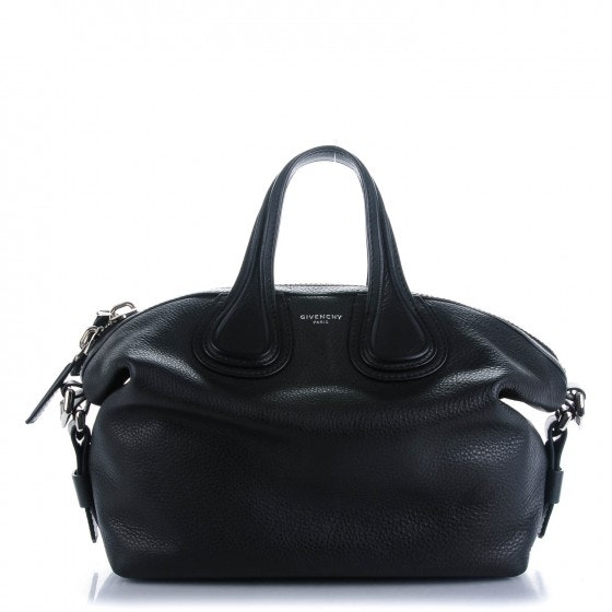 Givenchy Nightingale Tote Pebbled Calfskin Small Black