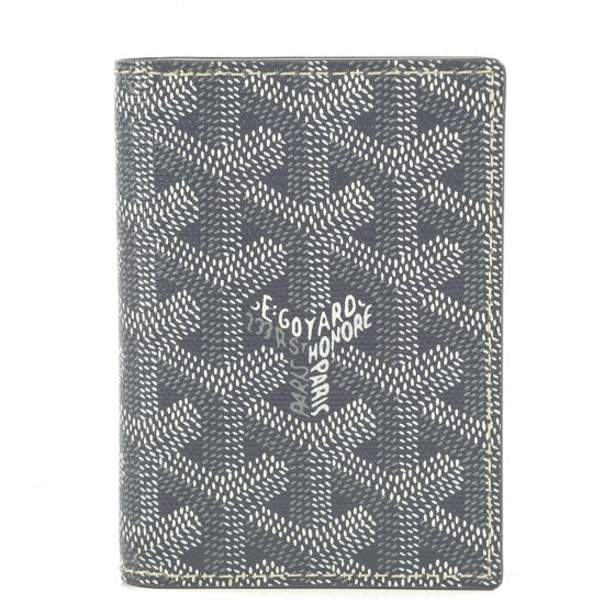 Goyard Saint Marc's Card Case Monogram Chevron Grey