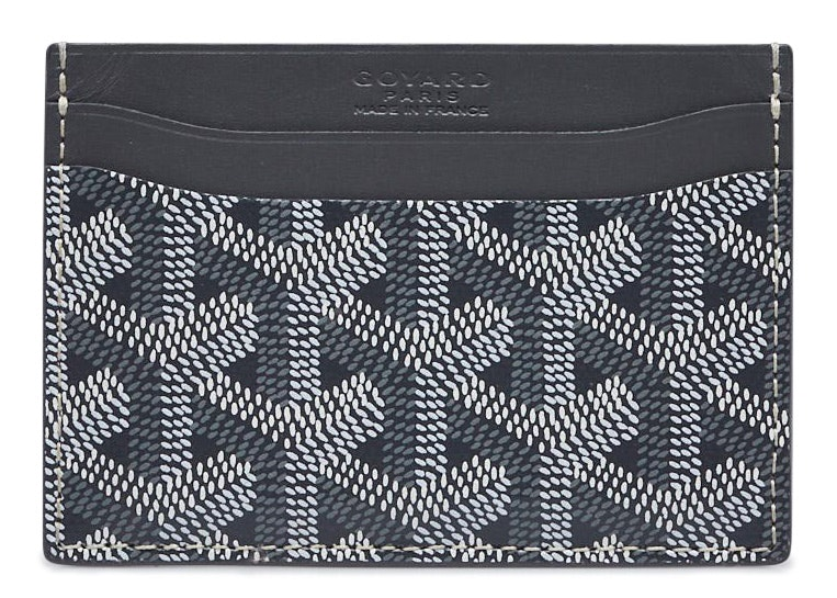 Goyard Card Holder Chevron Grey
