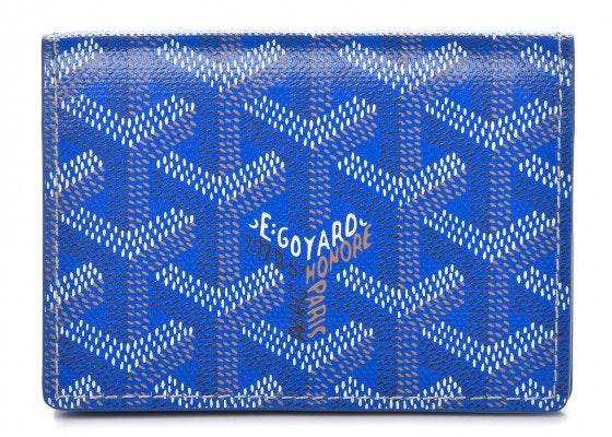 Goyard Card Holder Monogram Chevron Sky Blue