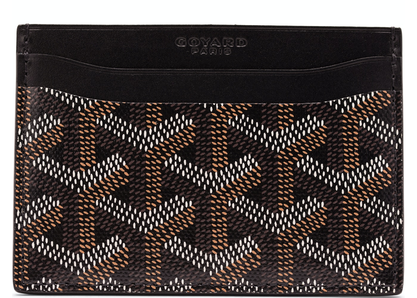 4ee08884cbfe Goyard Saint Sulpice Card Holder Monogram Chevron Black. Monogram Chevron  Black