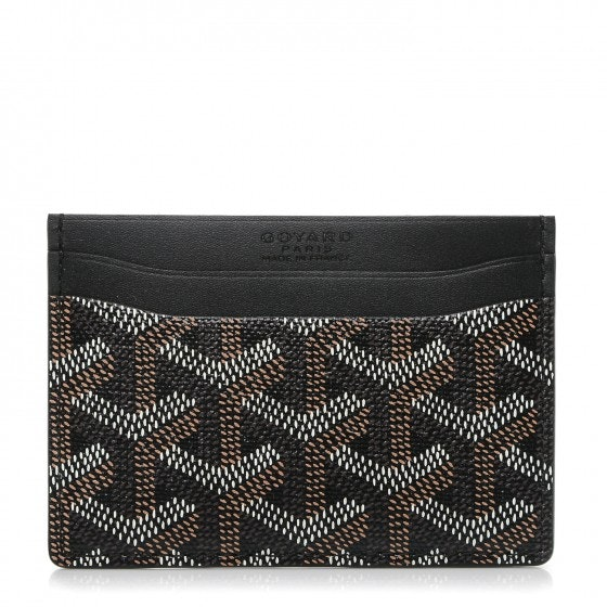 Goyard Saint Sulpice Card Holder Monogram Chevron Multicolor Black