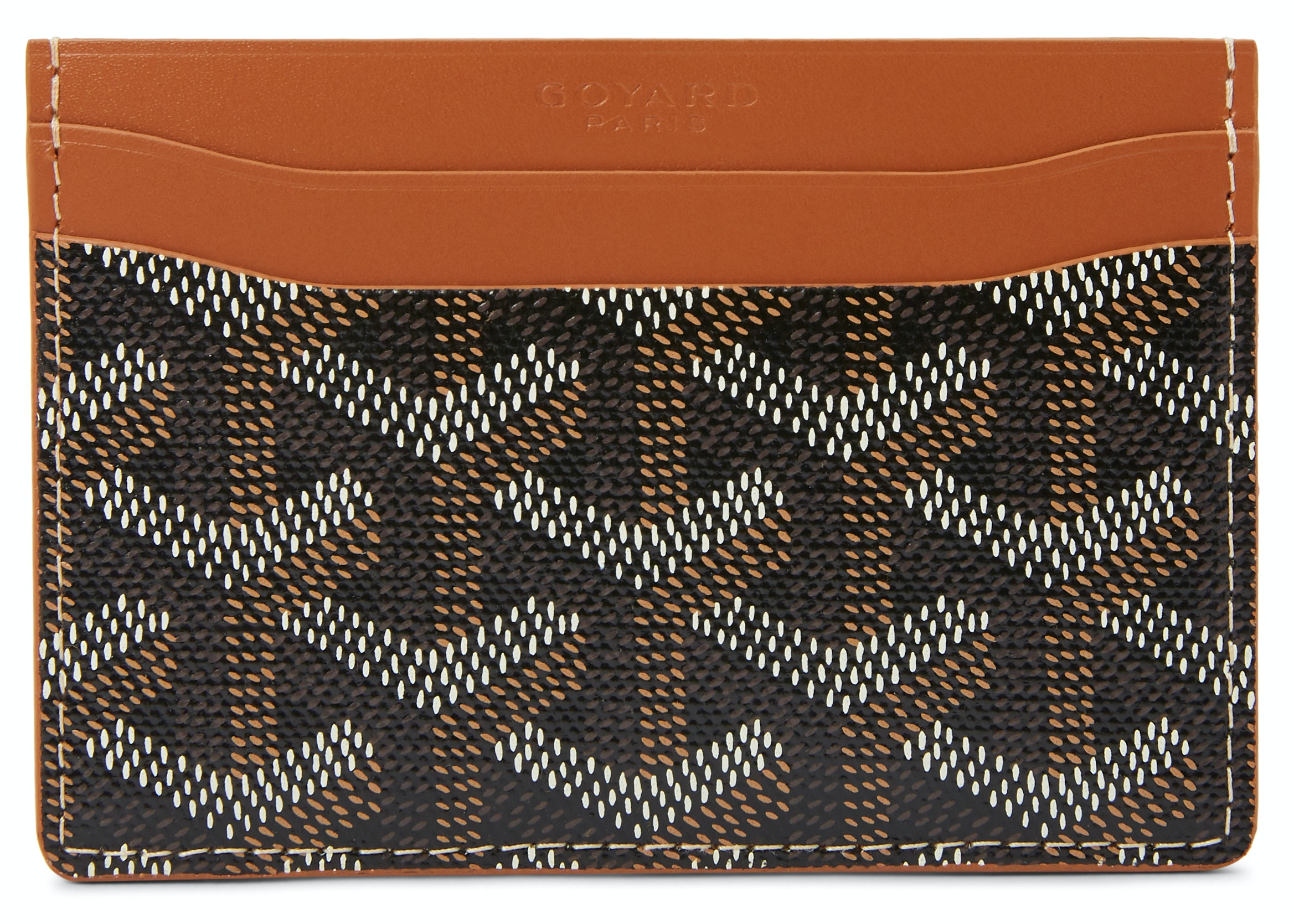 Goyard Saint Sulpice Card Holder Monogram Chevron Multicolor Brown