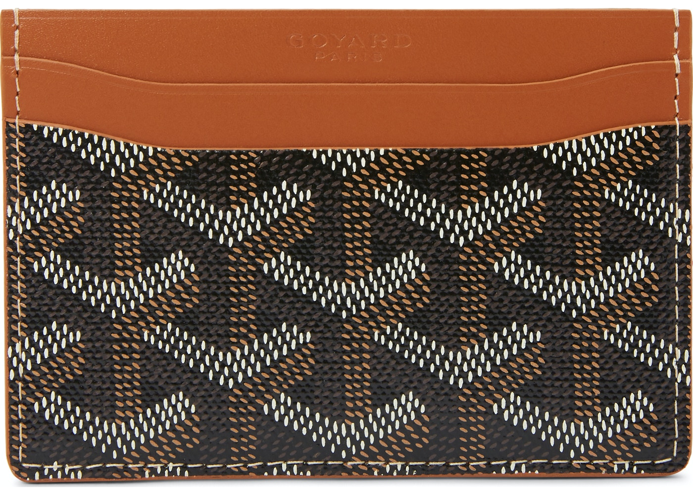 a8bfe4ef7aeeb Goyard Saint Sulpice Card Holder Monogram Chevron Multicolor Brown.  Monogram Chevron Multicolor Brown