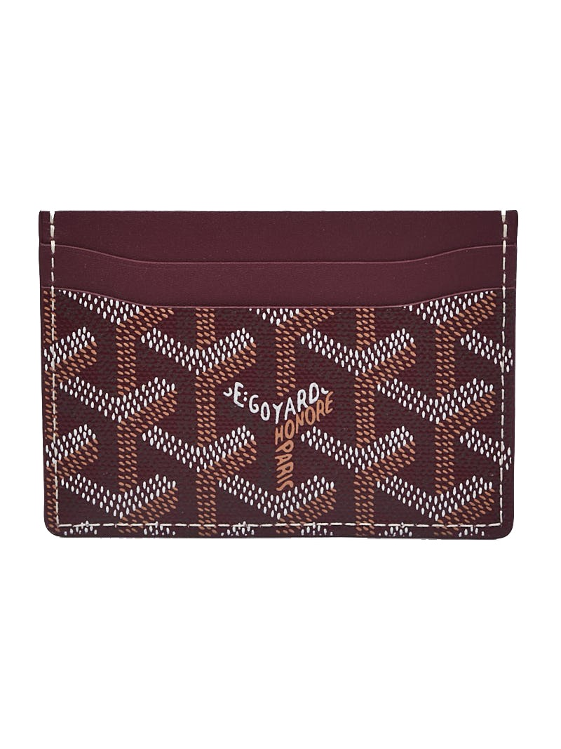 Goyard Saint Sulpice Card Holder Monogram Chevron Multicolor Burgundy