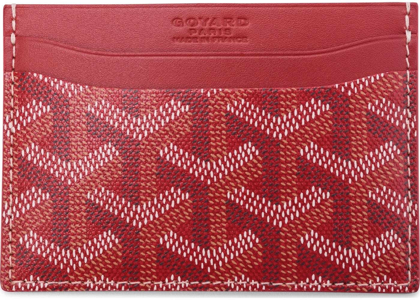 super popular 25a85 3c46b Goyard Saint Sulpice Card Holder Goyardine Red