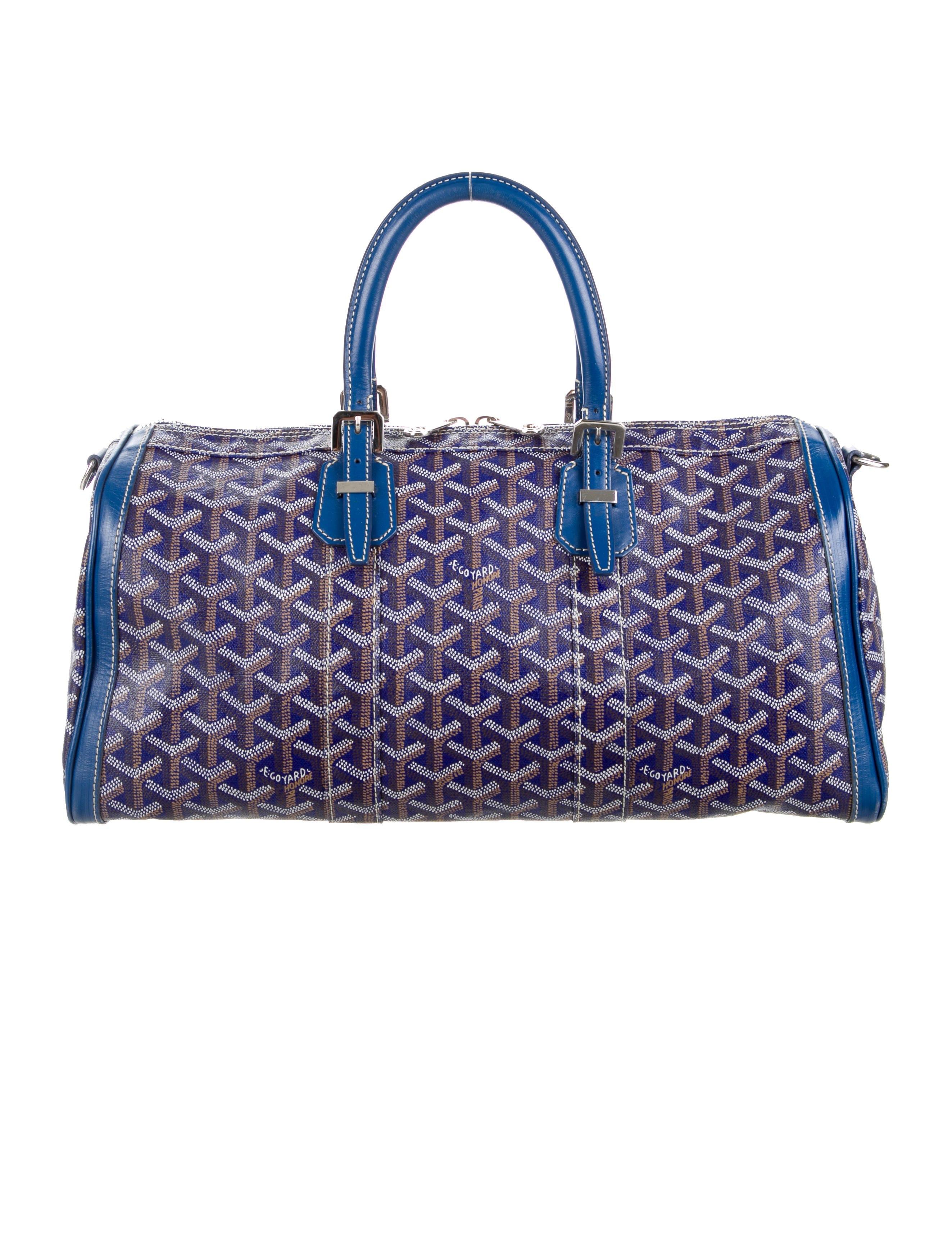 Goyard Croisiere Handbag Monogram Chevron Multicolor 40Blue
