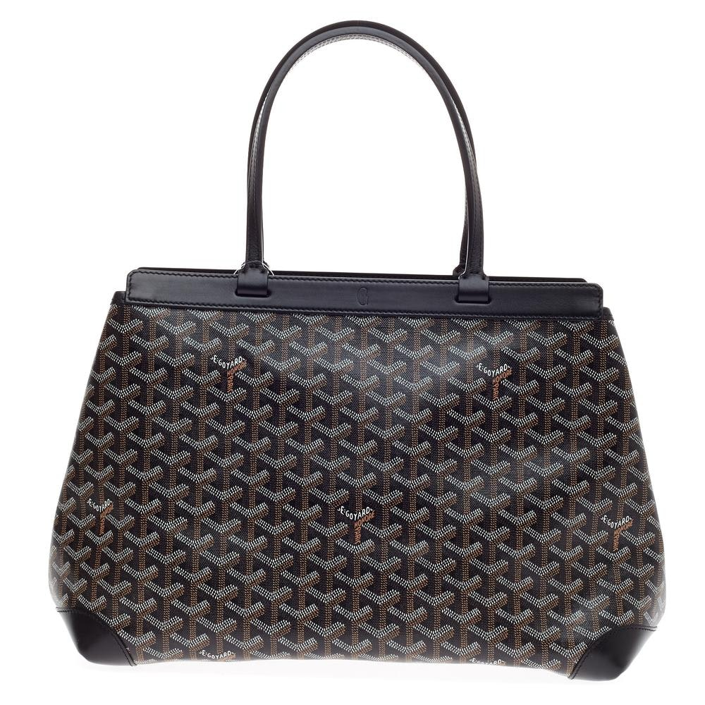Goyard Bellechasse Handbag Monogram Chevron PM Black
