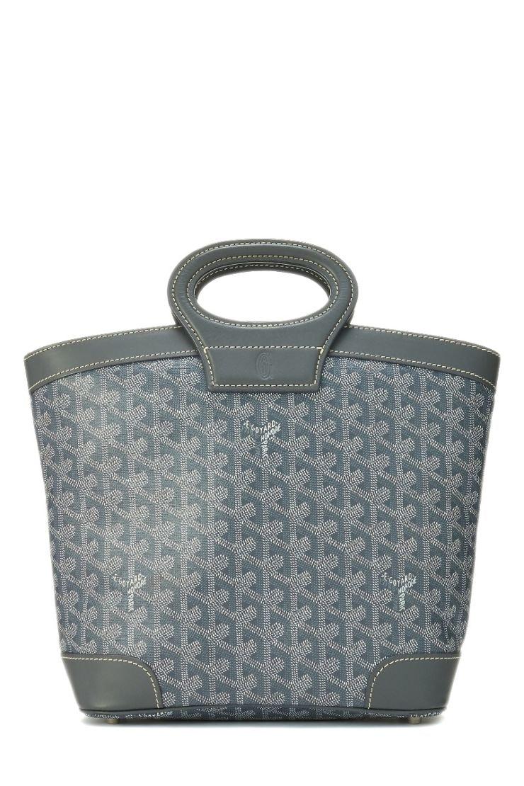 Goyard Beluga Handbag Monogram Chevron Multicolor PM Grey