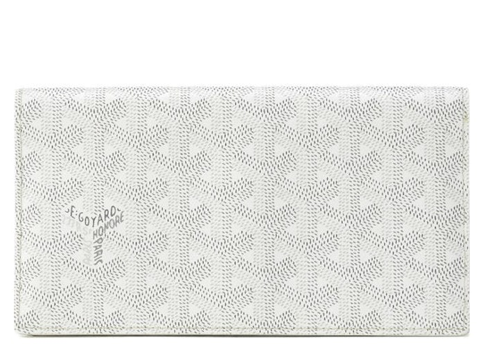 Goyard Richelieu Wallet Monogram Chevron Multicolor White