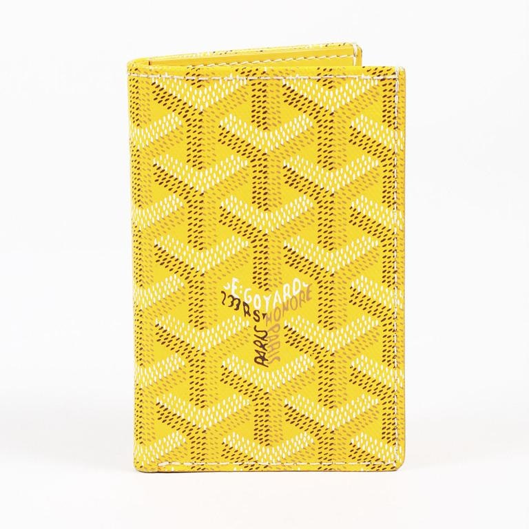 Goyard Saint Marc Bifold Card Case Monogram Chevron Yellow