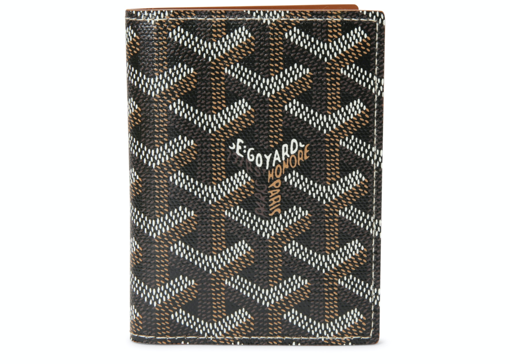 Goyard Saint Marc's Card Case Chevron Black/Brown