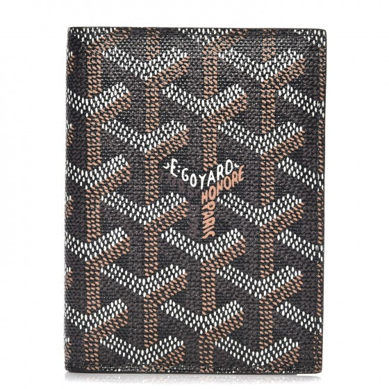 Goyard Saint Marc's Card Case Chevron Black