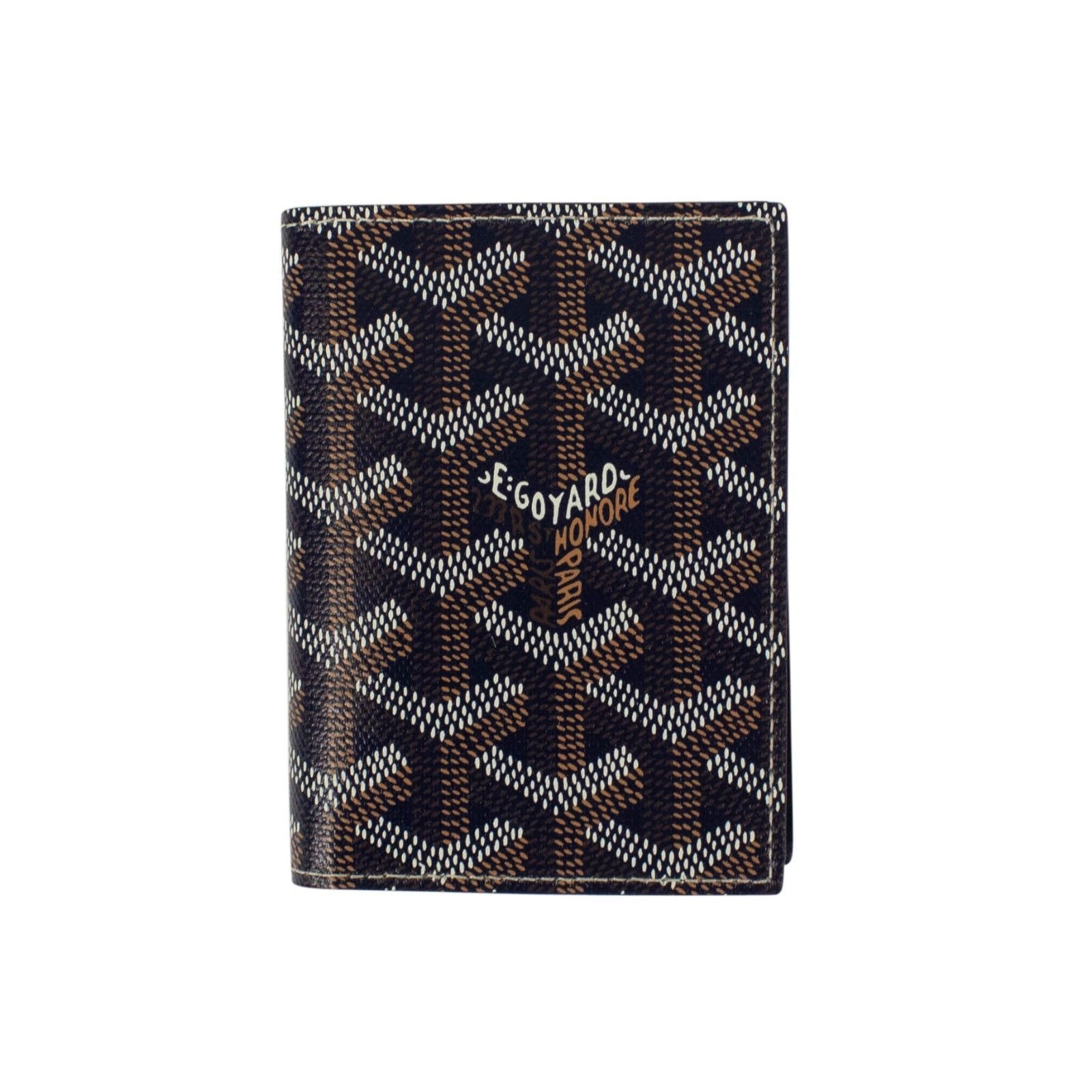 Goyard Saint Marc's Card Case Chevron Navy