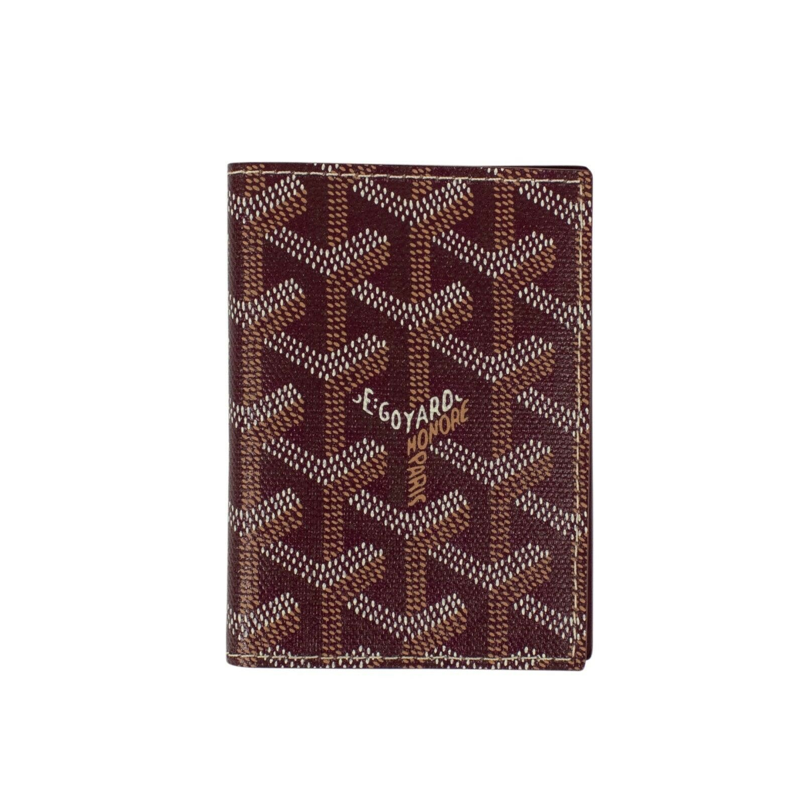 Goyard Saint Marc's Card Case Monogram Chevron Burgundy