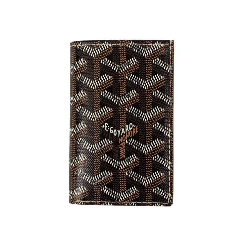 Goyard Saint Pierre Wallet Chevron Black/Brown