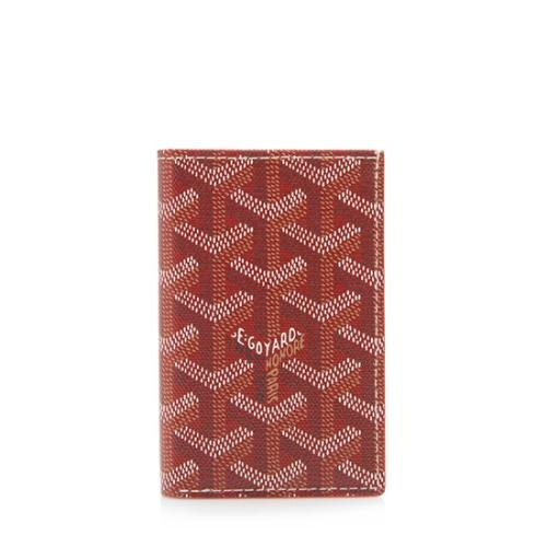 Goyard Saint Pierre Wallet Monogram Chevron Red