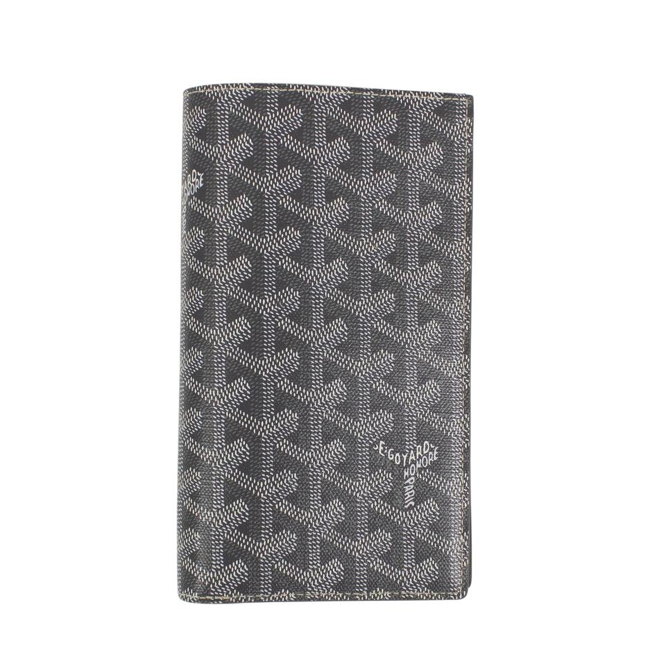 Goyard Saint Roch Wallet Chevron Gray