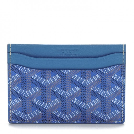 Goyard Saint Sulpice Card Holder Monogram Chevron Sky Blue