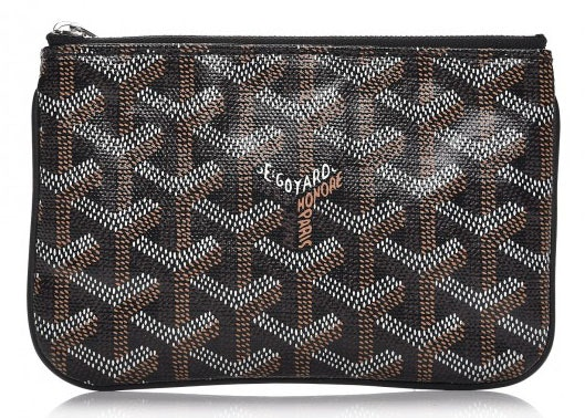 Goyard Senat Pouch Monogram Chevron Mini Black
