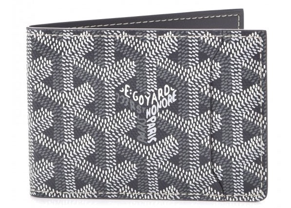 Goyard Slot Wallet Monogram Chevron Grey