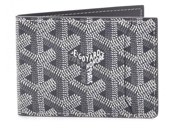 Goyard Slot Wallet Monogram Chevron Grey