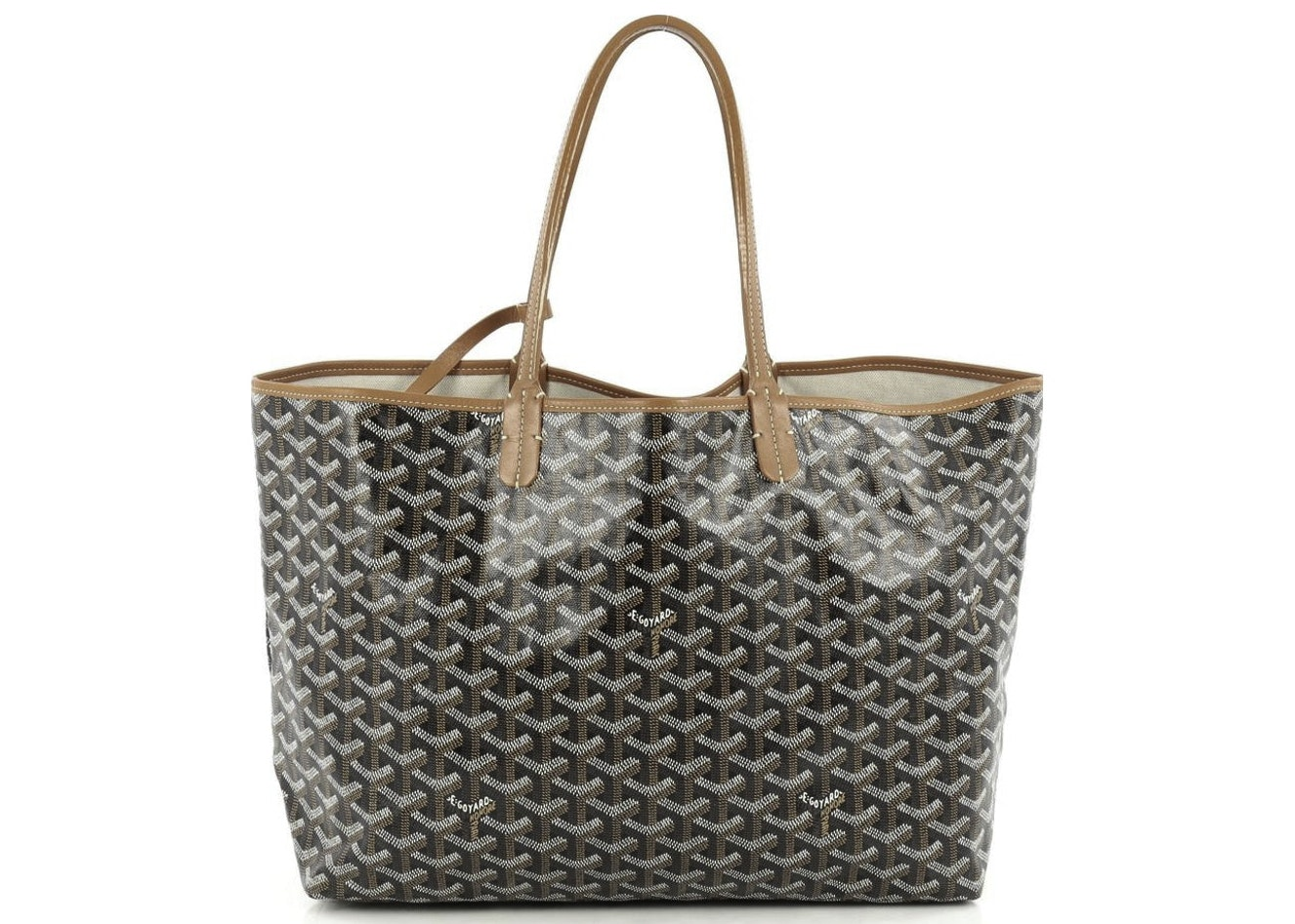 Goyard Saint Louis Tote Monogram Chevron Multicolor PM Brown