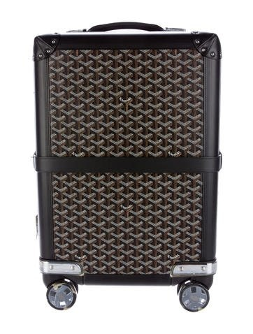 Goyard Aba Bourget Suitcase Monogram Chevron Multicolor Black