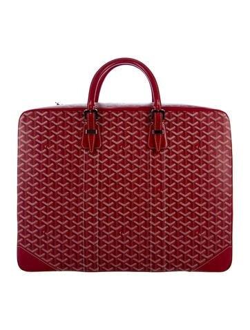 Goyard Majordome Suitcase Monogram Chevron Multicolor 50 Red