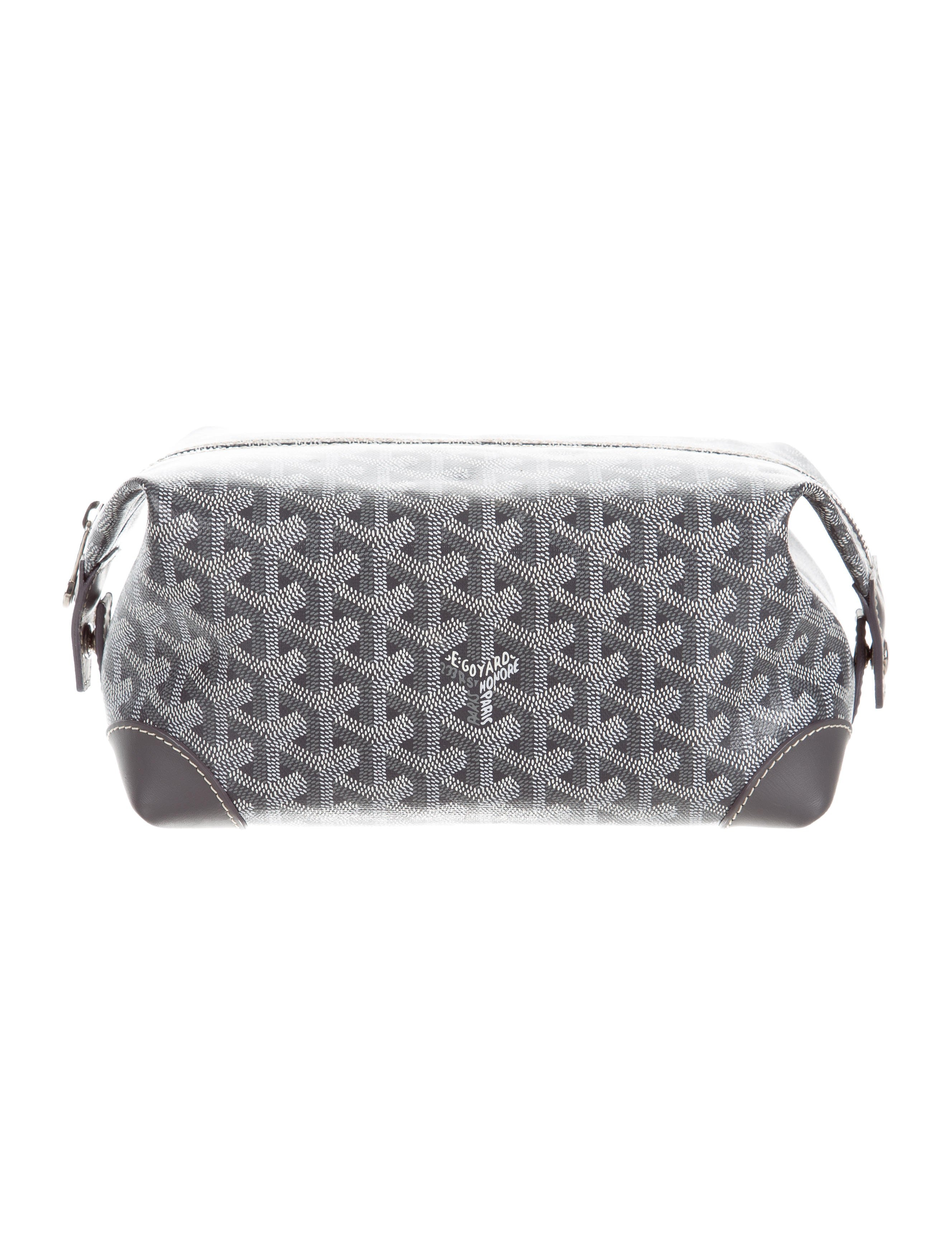 Goyard Boeing Trousse de Toilette Toiletry Bag Monogram Chevron 25 Grey