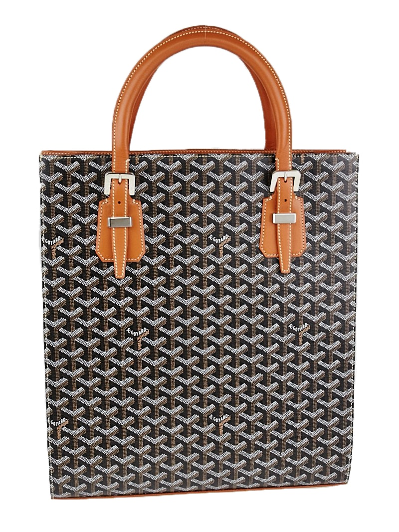 Goyard Comores Tote Monogram Chevron Multicolor Brown