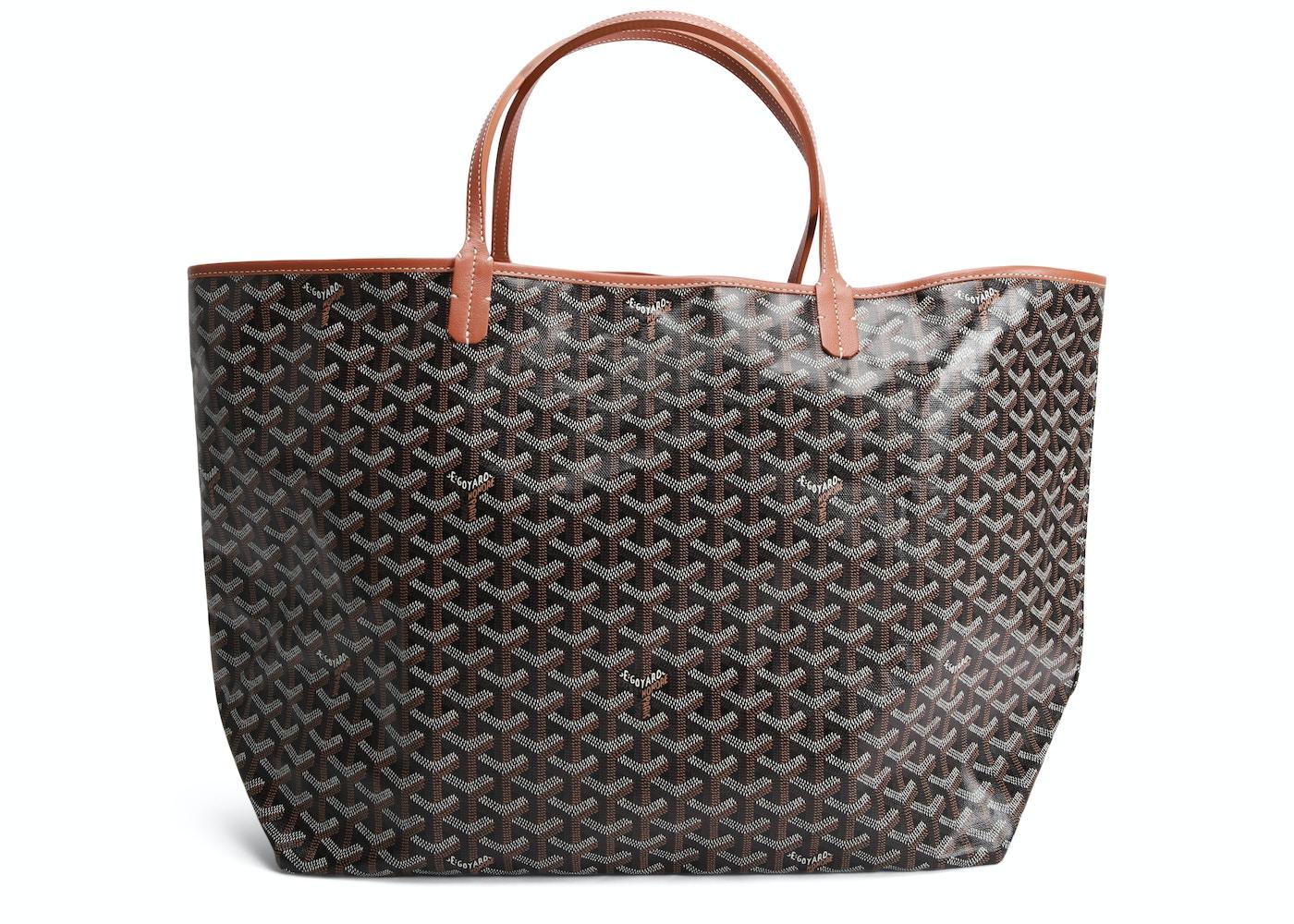 new design outlet boutique exclusive shoes Goyard Saint Louis Tote Goyardine GM Black/Tan