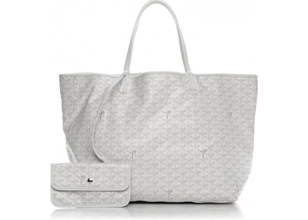 1d13f998ccaa Goyard Saint Louis Tote Monogram Chevron GM White