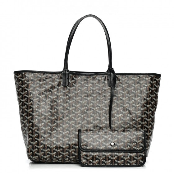 Goyard St. Louis Tote Monogram Chevron PM Black