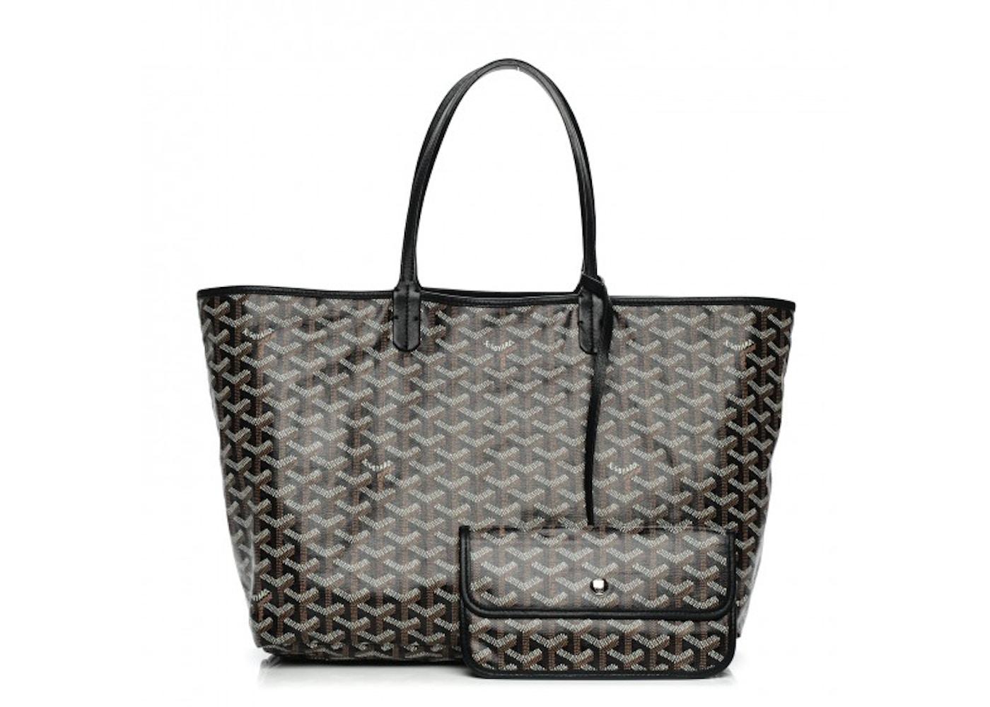 cute cheap buy good innovative design Goyard Saint Louis Tote Goyardine PM Black