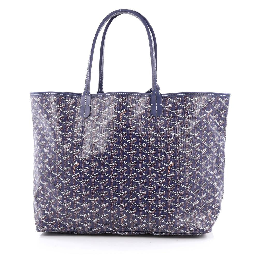 Goyard St. Louis Tote Monogram Chevron Multicolor PM Navy Blue