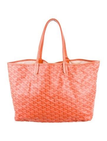 Goyard Saint Louis Tote Monogram Chevron Multicolor PM Orange